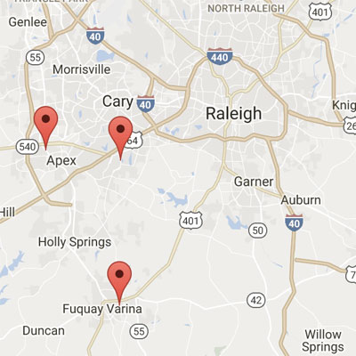 Fuquay Varina Zip Code Map.Office Locations Cary Pediatric Center